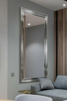 £106.59 • Buy Extra Large Silver / Chrome Modern Wall Mirror Retro Full Length 5ft6 X 2ft6