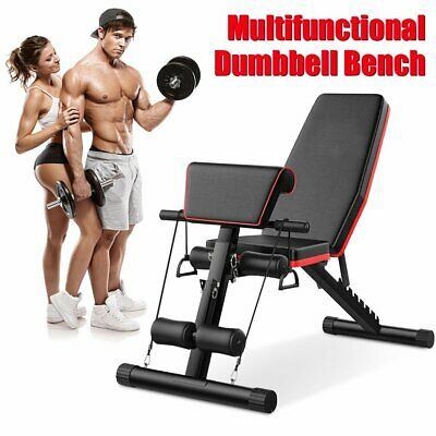 £29.56 • Buy Adjustable Folding Weight Bench Dumbbell Exercise Fitness Sit Up Incline