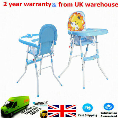 £28 • Buy Height Adjustable Baby High Chair Recline Feeding Seat W/ Tray Table Highchair