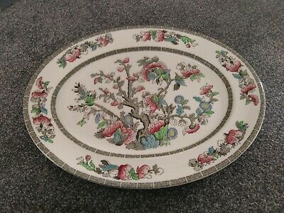 £10 • Buy Vintage China Johnson Bros Oval Indian Tree Plate