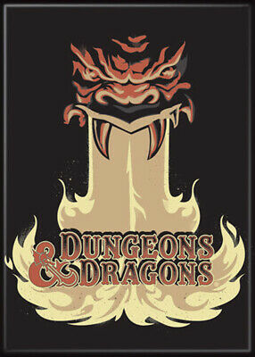 AU32.79 • Buy Dungeons And Dragons Monster Fire Logo 3.5 X 2.5 Magnet