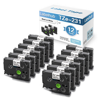 £29.99 • Buy 12PK Compatible TZe-231 12mm For Brother P-Touch PT 1000 H105 H100R H101C H110