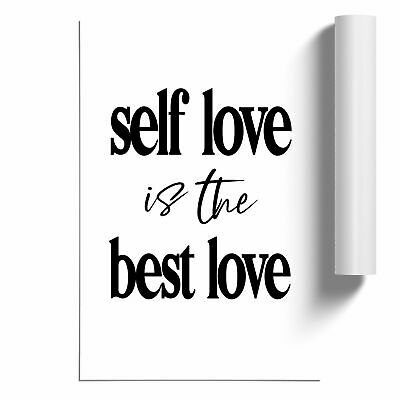 £14.95 • Buy Self Love Typography Poster Print Wall Art Unframed Picture