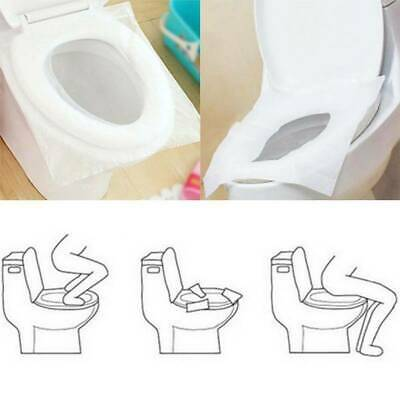 £2.59 • Buy Toilet Seat Paper Covers Bathroom Disposable Travel Sanitary Protections10pcs.