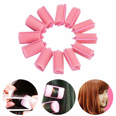 AU6.59 • Buy 12/24x SPONGE HAIR ROLLERS SMALL/LARGE Soft Foam Comfortable Styling Wave Curler