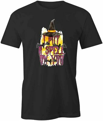 AU27.59 • Buy I PUT A SPELL ON YOU TShirt Tee Short-Sleeved Cotton HALLOWEEN CLOTHING S1BCA488