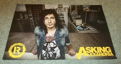 £2.99 • Buy Rocksound - Asking Alexandria -  Cameron Liddell -  Rare Poster (11x8 Inches)