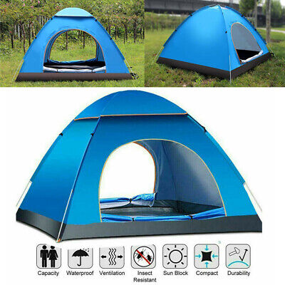 £18.99 • Buy Pop Up Tent Automatic 4 Man Person Family Tent Camping Festival Shelter Beach UK