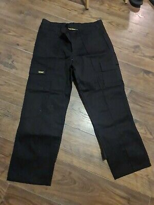 £20 • Buy Mens Cargo Combat Work Trousers Size 36 Short Black By SITE KING  2 Pairs