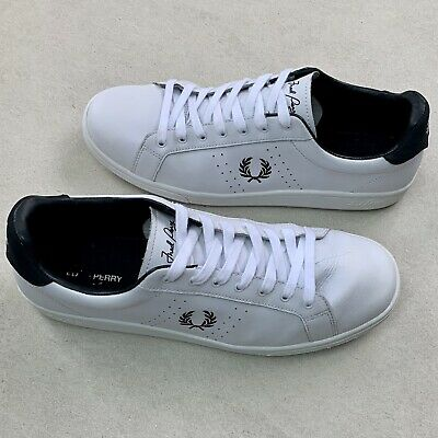 £14.50 • Buy Fred Perry B721 White Leather Trainers Shoes Size UK 12