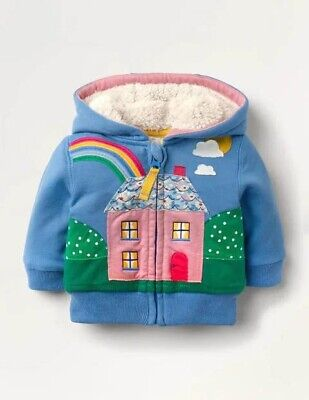 £33 • Buy New Boden Girls Shaggy-lined Scene Hoodie Age 3-4 Yrs
