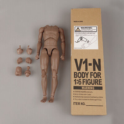 £19.87 • Buy 1/6 Scale Male Muscular Body V1-N Action Figure 12 Doll Fit Phicen Hot Toys Head