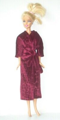 £5.99 • Buy Fuchsia Pink Velour Dressing Gown Robe Made To Fit Barbie Style Doll