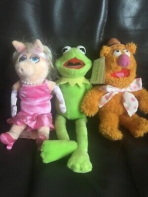 £6 • Buy The Muppets Disney Plush Toys Kermit The Frog Mrs Piggy And Fozzie Bear Vintage