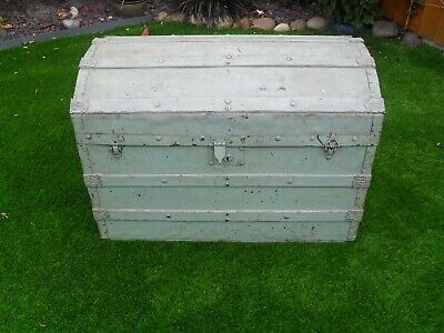 £55 • Buy Antique Old Wooden Trunk Chest