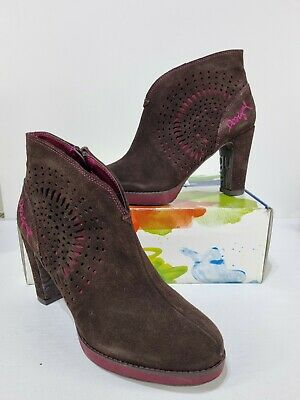 £69.99 • Buy Desigual Sofia Brown Suede Bootie Ankle Boots Size UK 5 EUR 38 BNIB RRP £101