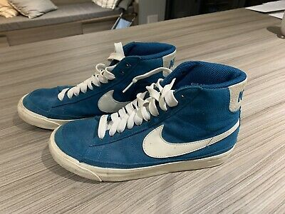 £8.30 • Buy Nike Teal Blazer Suede High Top Trainers Size 6