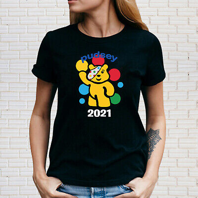 £8.99 • Buy Spotty Pudsey Bear Ladies T Shirt Children In Need Charity Dotty Spot Top Tee