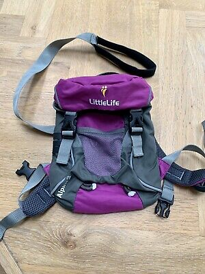 £1.60 • Buy Little Life Backpack With Reins - Purple And Grey - Nearly New Condition