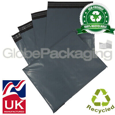 £1.95 • Buy Globe Eco-friendly Grey Mailing Postal Postage Bags 100% Recycled & Recyclable