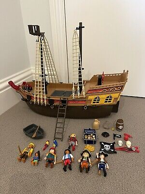 £13 • Buy Incomplete Playmobil Pirate Ship With Figures And Accessories