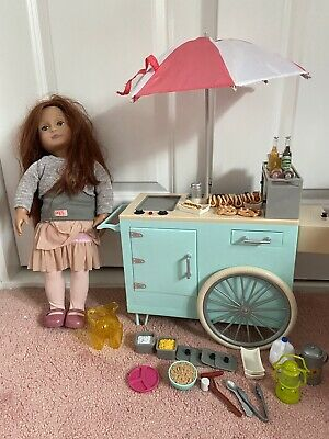 £16 • Buy Our Generation Doll Hot Dog Stand And Doll
