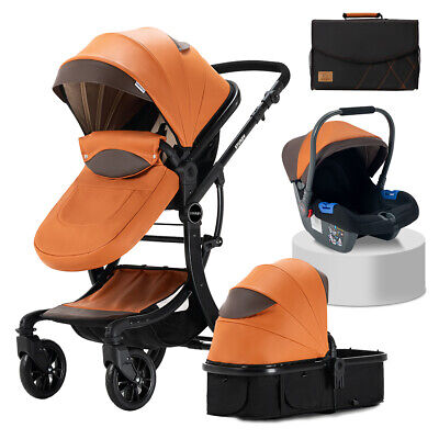 £189.99 • Buy STURDY 3 In 1 Travel System Combi Stroller Buggy Baby Pushchair Pram Carrycot