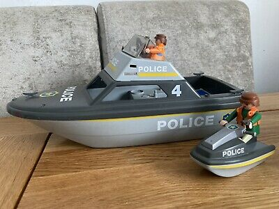 £5 • Buy Playmobil Police Rescue Boat With Jet Ski, With Figures