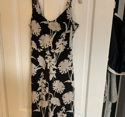 £8 • Buy Topshop Petite Floral Open Back Jumpsuit Black And Nude Size 12