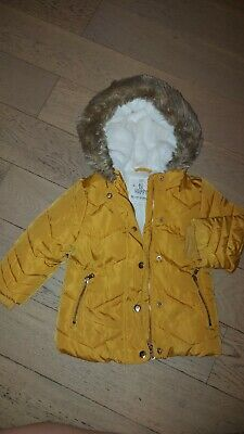 £2 • Buy 12 - 18 Months Padded Coat With Fur Lined Hood And Inner Lining