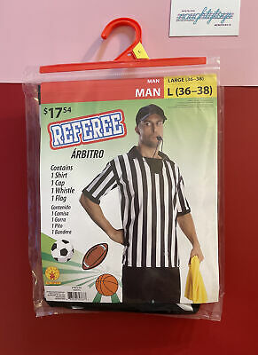 £13.09 • Buy NEW Rubie's Referee Halloween Costume Man Men Large (36-38) Official Basketball