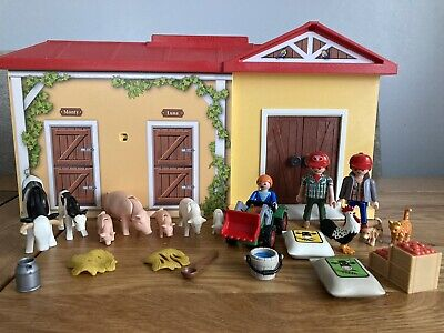 £12.50 • Buy Playmobil Take Along Stables, With Animals, Tractor, Figures & Accessories