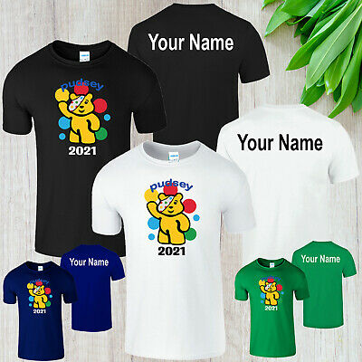 £7.99 • Buy Spotty Pudsey Bear Personalised Kids T Shirt Children In Need Dotty Spot Charity