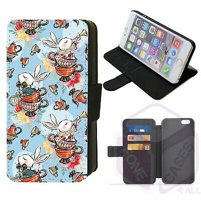 £9 • Buy IPhone/Galaxy Wonderland Whimsical Design Faux Leather Printed Flip Phone Case D