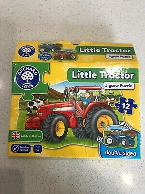 £4 • Buy Little Tractor Jigsaw : Orchard Toys : Double Sided : Prev Owned 100% Complete