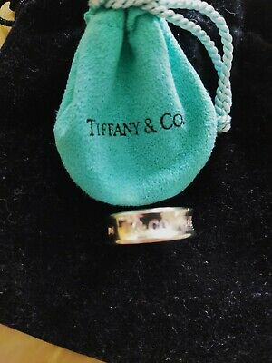 £90 • Buy Tiffany And Co Sterling Silver Ring. Size Q1/2. Immaculate.