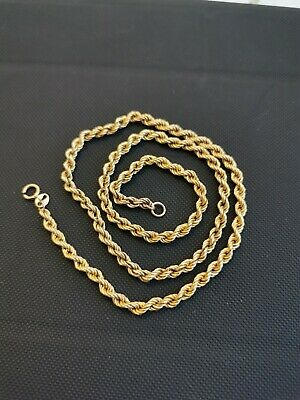 £34 • Buy Beautiful 9 Carat Gold 375 Rope Chain Clasp Missing