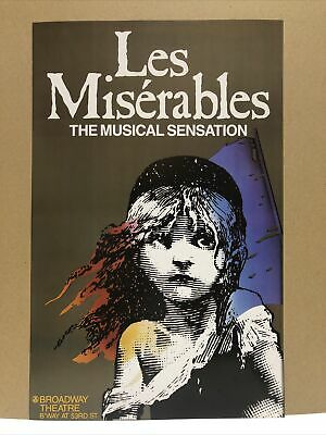 """£14.62 • Buy Les Miserables Broadway Musical  Theater 🎭  Poster 24"""" X 15.5"""""""