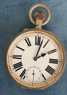 £26 • Buy POCKET WATCH GOLIATH. MECHANICAL WHITE METAL CASE EARLY 20th C. FOR RESTORATION