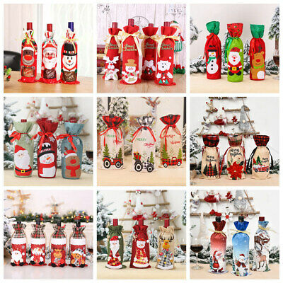 £2.94 • Buy Christmas Santa Claus Outfit Wine Bottle Cover Bag Xmas Party Dinner Table Decor