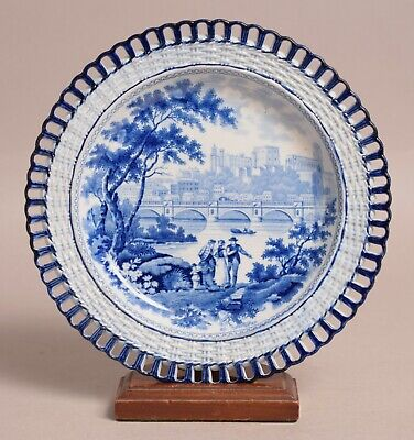 £25 • Buy Fine Quality Antique Pearlware Transfer Printed Plate 'lancaster'