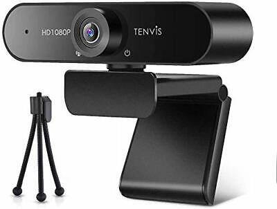 £25.99 • Buy TENVIS 1080P Webcam FULL HD Webcam With 120° Wide Angle, Streaming Camera With