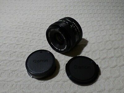 £44.99 • Buy Canon FD 28mm 1:2.8 Wide Angle Camera Lens & Caps