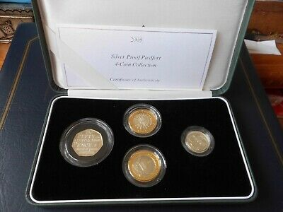 £110 • Buy Royal Mint 2005 Silver Proof Piedfort 4 Coin Set