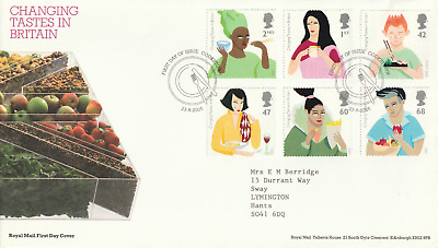 £3.20 • Buy 23 AUGUST 2005 CHANGING TASTES IN BRITAIN RM FIRST DAY COVER COOKSTOWN SHS (b)