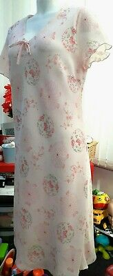 £12.50 • Buy  British Home Stores  Pink Floral Summer Knee Length Cap Sleeved Dress(Size 18)
