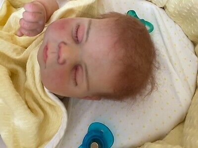 £75 • Buy Painted Reborn Kit Ready To Assemble. Hand Rooted Hair Realistic Look Newborn 👶