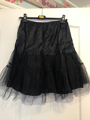 £5 • Buy Black  Net Petticoat 22ins Long From Coast Size 12 Preowned