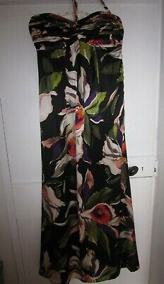 £1 • Buy Ted Baker Silk Black Orchid Strapless Maxi Dress -Size 1 /UK 8
