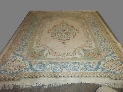 £170 • Buy Large Fine Quality Vintage Multi Coloured Chinese Oriental Wool Rug Pos Delivery